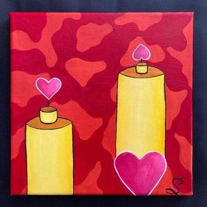 Original Abstract Heart Painting